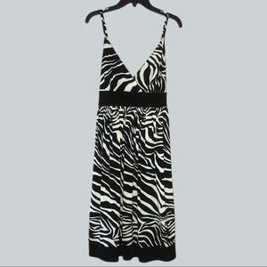 Montego Black & White Empire Fit Flare Party Dress